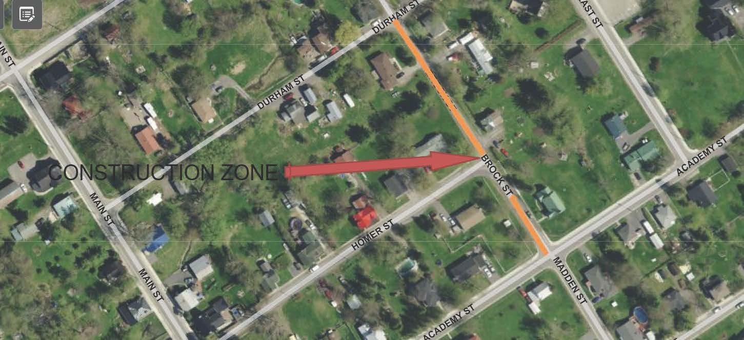 map of Brock & Durham streets