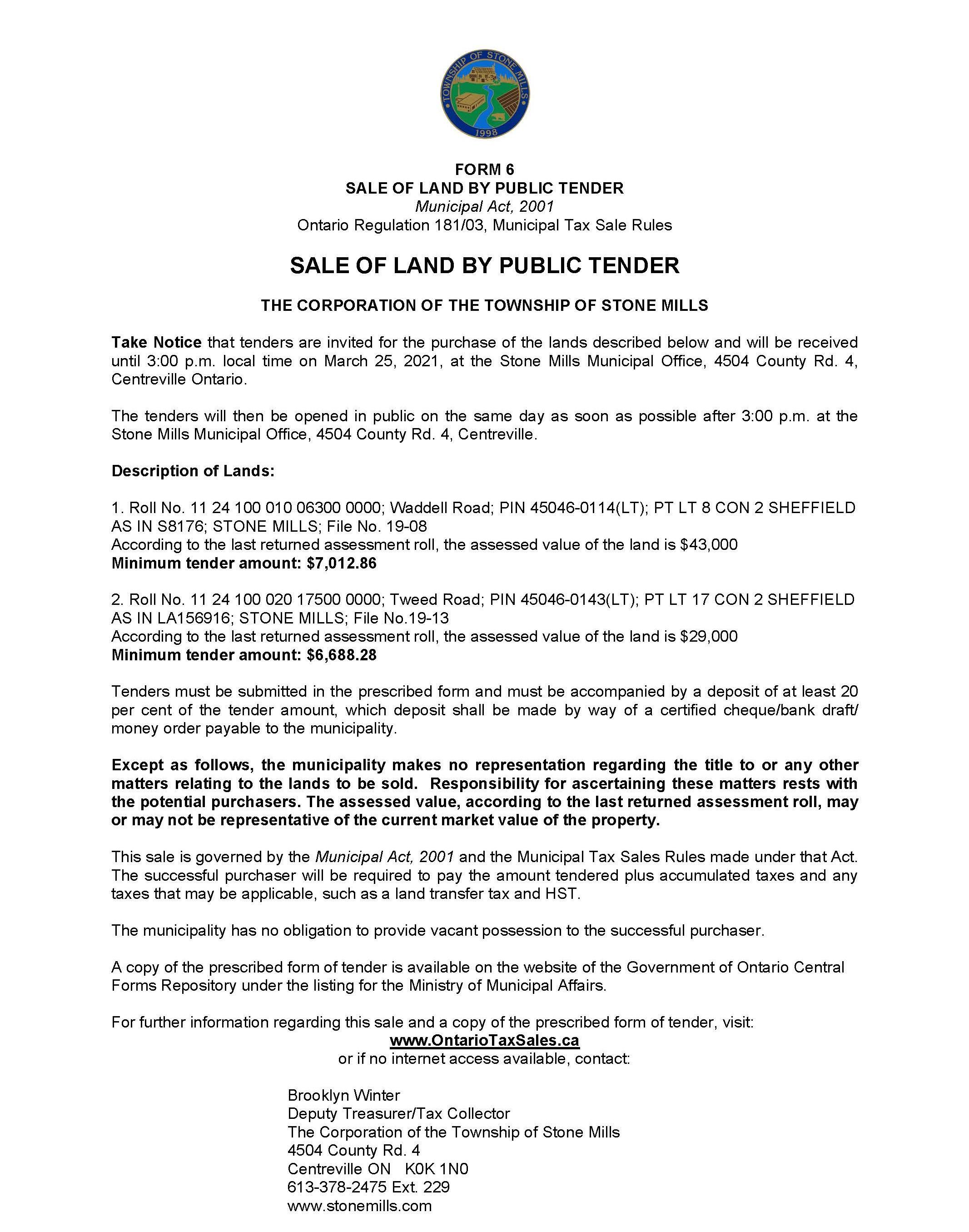 tax sale notice
