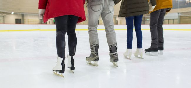 People skating in a rink